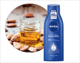 NIVEA Body Milk in der Botschafter-Aktion.