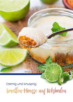 Rezept für Limetten-Mousse auf Keksboden.