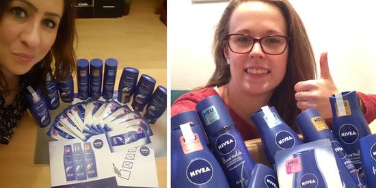 Fotos aus der Botschafter-Aktion mit der NIVEA Haarmilch Pflegeserie.