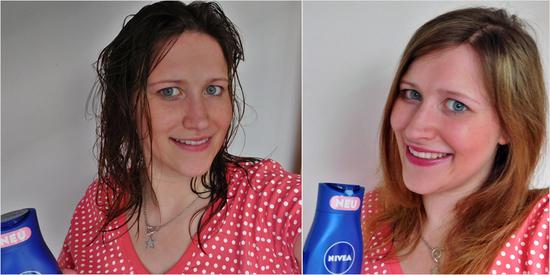 """Carolin K. freut sich: """"Meine Haare sind nach der Haarwäsche sehr glatt und fühlen sich angenehm an - und auch nach dem Föhnen gut kämmbar! :-)"""""""