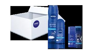 NIVEA Deo Protect & Care Testpaket.