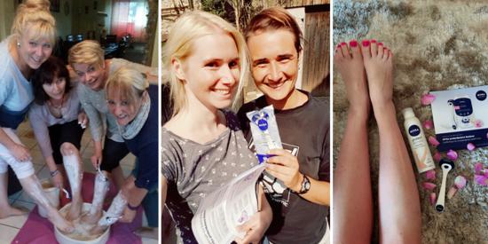 Fotos aus der Botschafter-Aktion mit dem NIVEA protect&shave Rasierer mit Wechelklingen