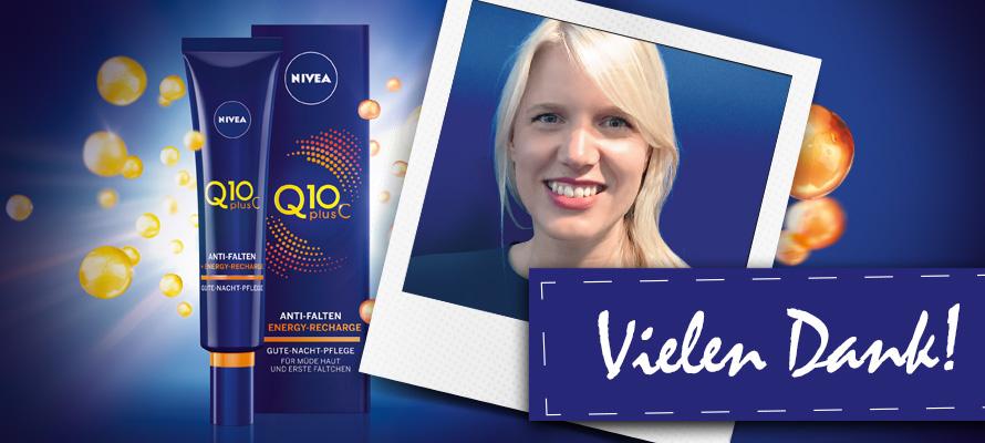NIVEA Q10plusC Energy Gute-Nacht-Pflege: Vielen Dank!